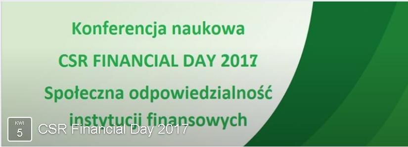 CSR Financial Day 2017