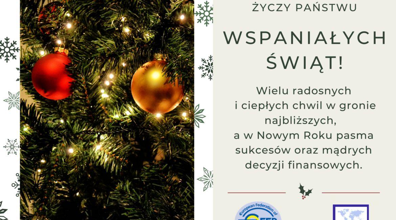 Akademia Planowania Finansowego życzy Państwu Wspaniałych Świąt Bożego Narodzenia! 🌟🎅⭐️🎄🎁❄️