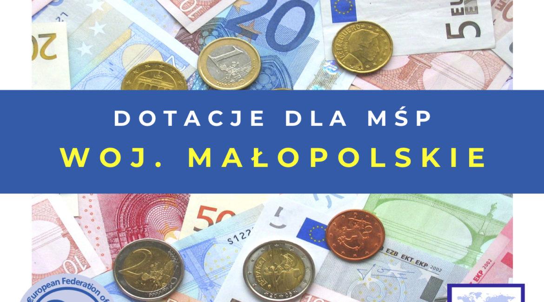 Dofinansowanie na szkolenia w województwie małopolskim